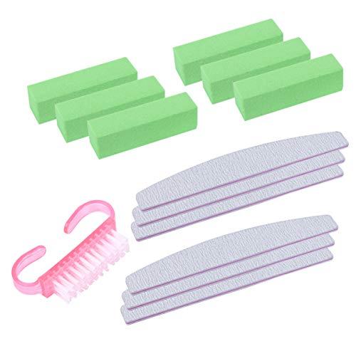 MILISTEN 13 Pcs Limes à Ongles Et Tampon Nail Brush Set Manucure Pédicure Outil Nail Grinding Tool for Home Room Hotel