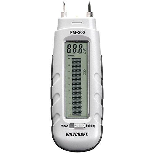 VOLTCRAFT FM-200 Materialfeuchtemessgerät Messbereich Baufeuchtigkeit (Bereich) 0.2 bis 2{978a803eb2c49a2eb2a8d3a97feaf2af6ffbd8b4384fbd9bbe9a166bb568516e} vol Messbereich Holzfeuchti