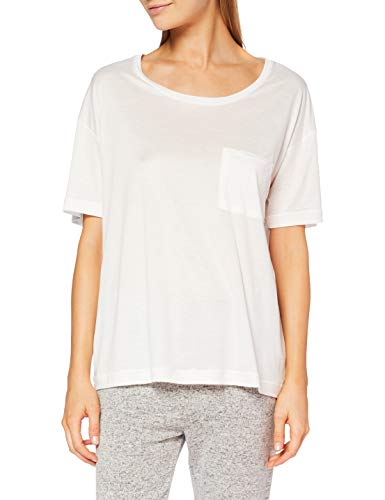 CALIDA Damen 100% Nature Pyjamaoberteil, Star White, 36-38