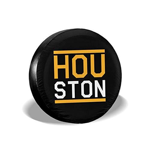 ZDMAHCC Run Houston Basketbal Ventilator Spare Wiel Tire Cover Grappige Waterdichte Bandbeschermers Nieuwigheid 14inch Meerkleurig