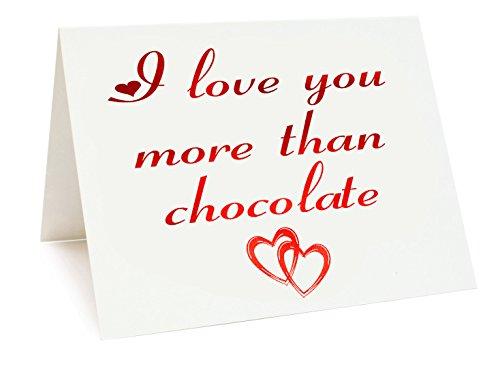A5 Verijdelde Verjaardag/Valentijnsdag/Liefde/Verjaardagskaart - Chocolade Thema