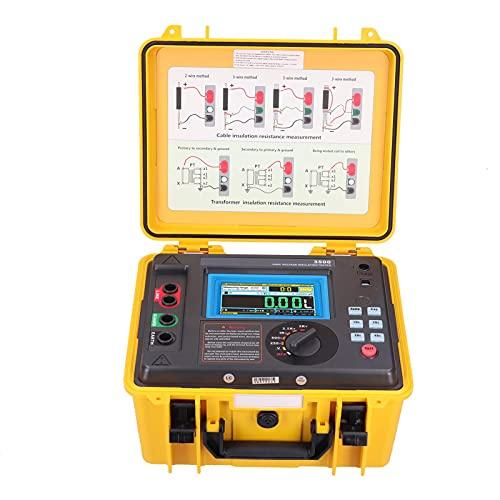 MegóHmetro ETCR3500 Probador de Resistencia de Aislamiento Digital 0.5MΩ ~ 2TΩ Prueba de Resistencia para Interruptores de Cables de Motor(EU Plug 100‑240V)
