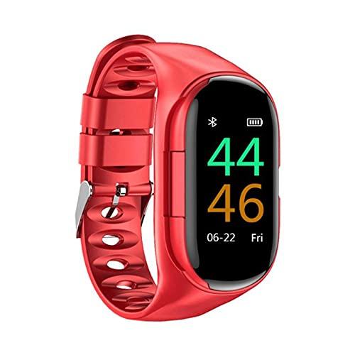 ZYY Pulsera M1 2 en 1 AI Inteligente Reloj con Auriculares Bluetooth, Monitor de frecuencia cardíaca, Pulsera Inteligente, Reloj Deportivo de Forma Larga para Hombres, Adecuado para Android iOS,A