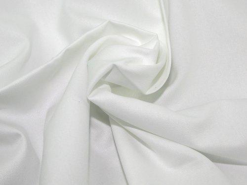 60' wide Cotton Drill Dress Fabric White - per metre