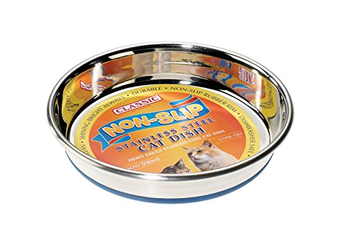 Classic Pet Products Classic Steel Superdish for Cats, Large, 500 ml
