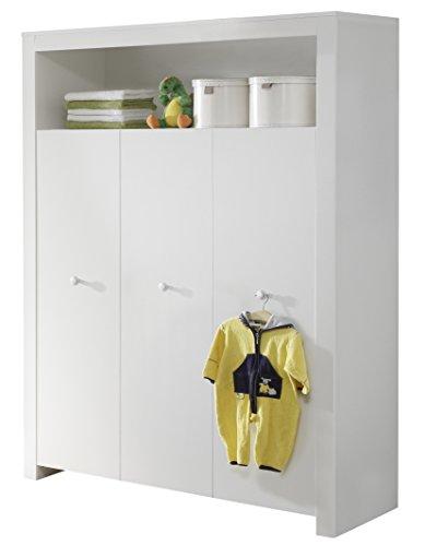 trendteam smart living Babyzimmer Kleiderschrank Schrank Olivia, 130 x 186 x 54 cm in Weiß mit viel Stauraum