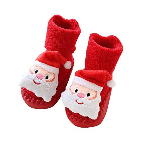 Tabanlly - Chaussette - Bébé (fille) 0 à 24 mois Santa Claus 12 cm