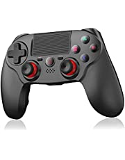 Wireless Ps4 Controller, Ocday Bluetooth High-Precision Game Controller Gamepad Met Touch Pad Dubbele Vibratie 6-Assige Antislip-Joysticks Voor Ps4 / Ps4 Slim / Ps4 Pro