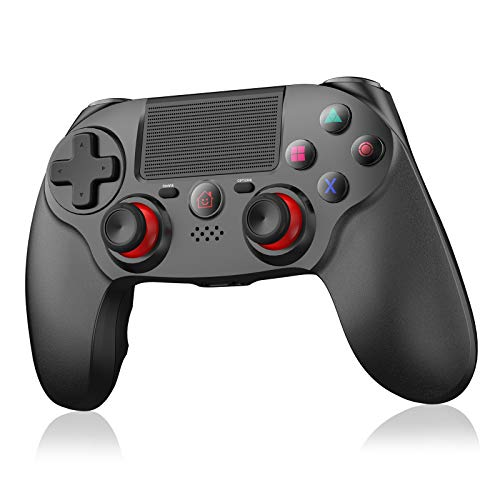 Wireless Controller für PS4,OCDAY Game Controller Gamepad mit Dual Vibration Touchpanel-Spielbrett Rechargable Remote Anti-Rutsch Griff Audio-Buchse und sechs Achsen für PS4/PS4 Slim/PS4 Pro