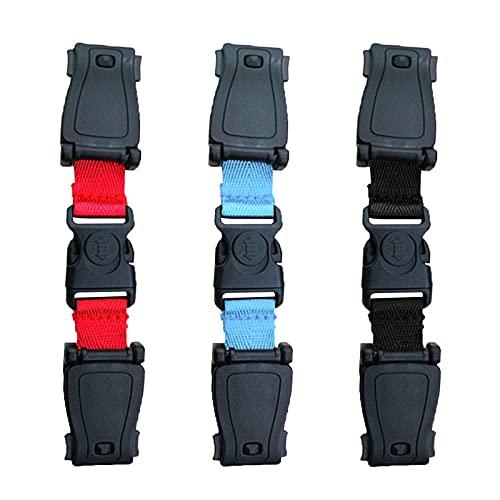 Cdemiy Clip Cinturon Silla Bebe, 3 Pcs Correa de pecho para mochila, Clip de pecho anti-escape para cinturón de seguridad para bebés, no requiere enhebrado, para viajes de niños y adultos