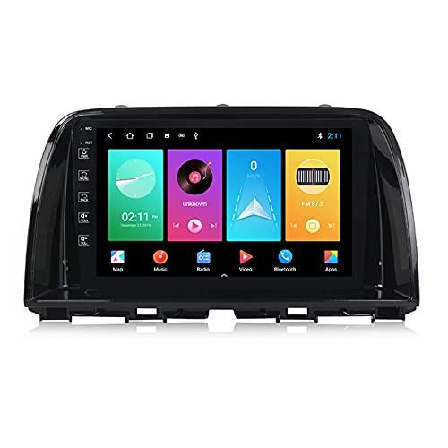 Amimilili Radio Coche 9 Pulgadas con Pantalla Táctil para Mazda CX-5 2011-2017 Autoradio con Bluetooth/GPS/FM/USB Mandos Volante/Manos Libres Bluetooth/Cámara Trasera,M100 1+16g
