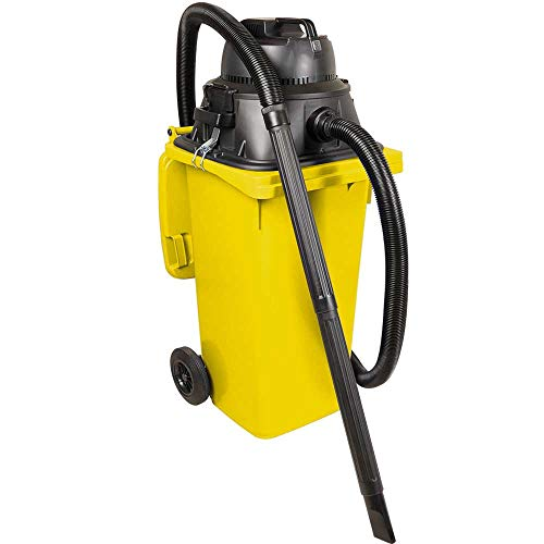 BRB Nass- /Trockensauger/Industriesauger 1100 Watt, mit 120 Liter Behälter (DIN Mülltonne) gelb