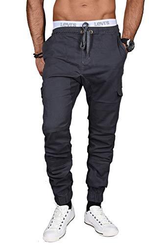 A. Salvarini Herren Stretch Cargohose Cargo Jeans Hose mit Elasthananteil Jogging Sweathose Slim AS031 [AS031 - Anthrazit - W29 L34]