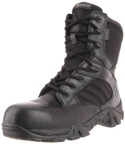 Bates Men's Gx-8 Gore-Tex Composite Toe Side Zip Work Boot, Black, 9.5 M US