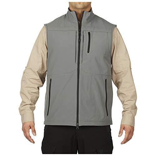 5.11 Tactical Impermeabile Trekking Outdoor Covert Nascondere Gilet Stile 80016, Uomo, 80016, Tempesta, M