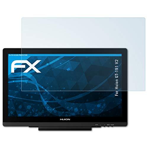 atFoliX Protezione Pellicola dello Schermo Compatibile con Huion GT-191 V2 Pellicola Protettiva, Ultra-Trasparente FX Proteggi Schermo (2X)