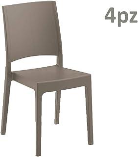 Sedie In Polipropilene Da Giardino.Amazon It Sedia Polipropilene Sedie Per Tavolo Da