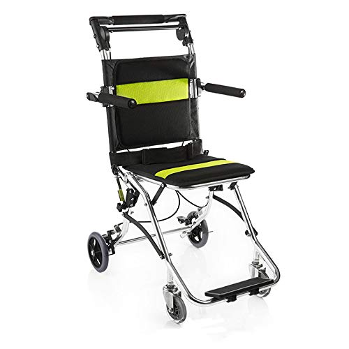 Best Deals! GFKSMS Handicapped Wheelchairs for Elderly Folding Portable Wheelchairs for The Disabled...
