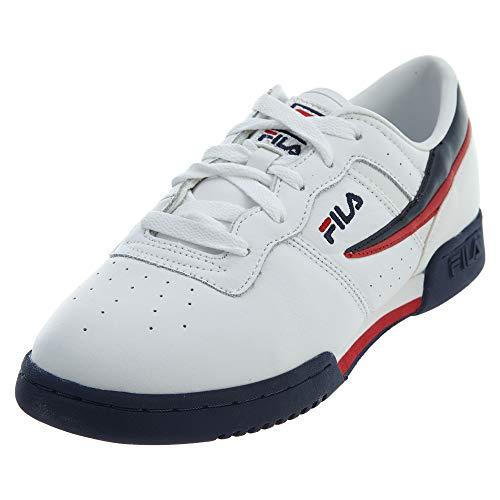 Fila boys Fila Original Fitness Big Kids Sneaker, White/Navy/Red, 4 Big Kid US