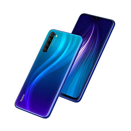 "Xiaomi Redmi Note 8 - Smartphone de 6.3"" FHD+ (Snapdragon 665 Octa Core, 4 GB RAM, 64 GB ROM, cámara trasera cuádruple de 48 MP, batería de 4000 mAh) Neptune Blue"