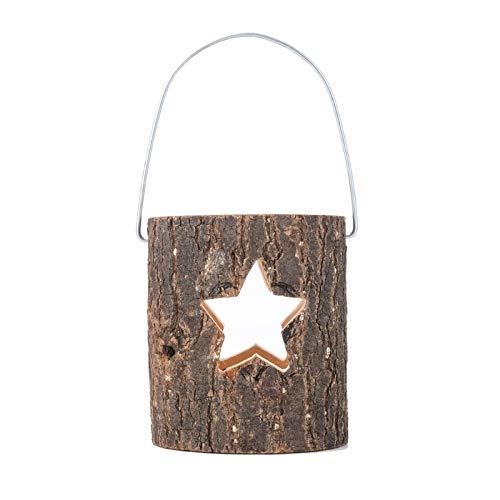 K-MANYU Candelabro de Pilar de Madera árbol de Navidad Hueco Copo de Nieve Estrella corazón candelabro rústico para Bodas cumpleaños decoración navideña Limpiador de moldes para Azulejos de