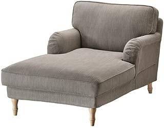 Ikea Chaise, Nolhaga gray-beige, light brown/wood 16202.291426.1422