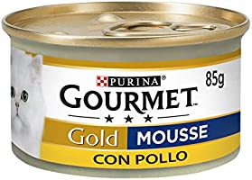 Gourmet Gold Mousse con Pollo Delicada 85g,24Piezas