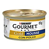 Purina Gourmet Gold Umido Gatto Mousse con Pollo, 24 Lattine...