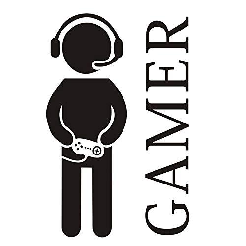 Gaming Gamer Wandtattoo Aufkleber, Videospiel Wandaufkleber, abnehmbare Gamer World für Net Bar Wohnzimmer Schlafzimmer Spielzimmer und Jungenzimmer Wände Hintergrunddekoration (G1)
