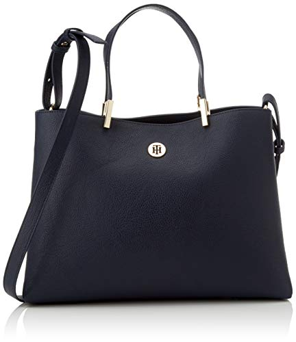 Tommy Hilfiger Damen Th Core Satchel Tornistertasche, Mehrfarbig (Sky Captain), 15x0.1x34 Centimeters