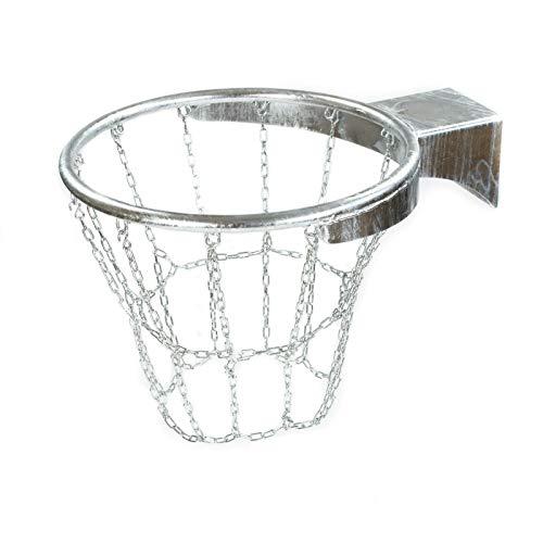 RomiSport Canasta de baloncesto profesional, anillo con malla de acero