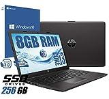 notebook hp 250 g7 portatile display da 15.6 /cpu intel core i3-7020u 2,3ghz /ram 8gb ddr4 /hd ssd 256gb /vga intel hd 620 /hdmi masterizzatore wifi bluetooth/windows 10 professional + open office