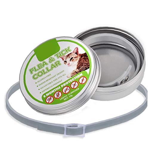 lujiaoshout Dog Flea Collar Flea and Tick Prevention Callar Adjustable Natural Flea and Tick Collar Hypoallergenic Waterproof Tick Collar for Dogs Grey