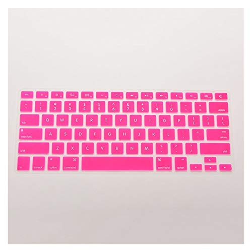 Easy to use 7 Candy Colors 28.7cm x 11.9cm Silicone Keyboard Skin Cover For Apple Macbook Pro MAC 13 15 17 Keybaord Skin Protector (Color : Rose)