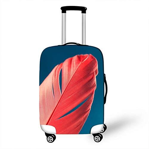 Feder Kofferhülle Kofferschutzhülle Elastisch Verschleißfeste Protektor Luggage Cover mit Reißverschluss 18-28 Zoll Gepäckraumabdeckung Schutzbezug Koffer Abdeckung P4 L