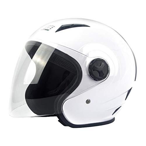 gazechimp Seguridad Abatible Hacia Arriba Casco de Motocicleta de Cara Completa Hombres Street Bike Racing Sports Nuevo - Blanco M