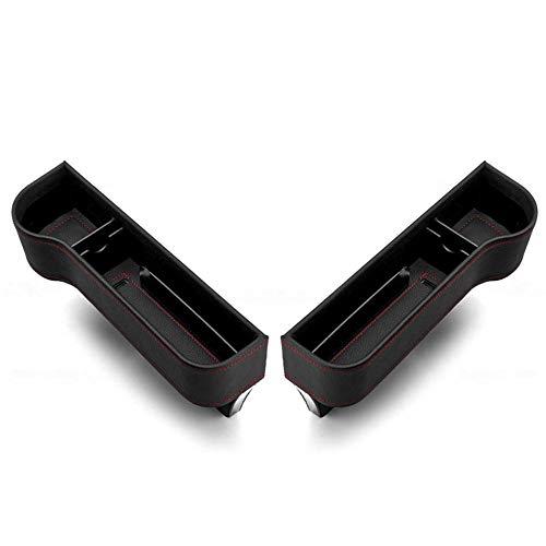 Urben Life Multifunktionale Aufbewahrungsbox Für Auto, PU Leder Autositz Seitentaschen Organizer Autositz Seiten Schlitz Taschen Auto füllt Lücken Zwischen den Sitzen.