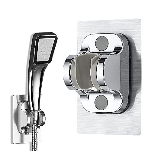 Handbrause Halterung,Ohne Bohren Duschkopfhalterung Verstellbar Brausehalter Selbstklebende Wand-Duschhalterun,für Badezimmer Hotel