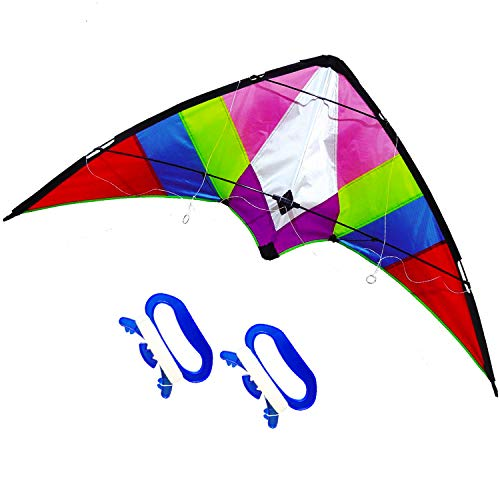 ZHUOYUE Dual Line Stunt Kite Professional Outdoor Sport Flying Toys ,Includes 2 Kite Line and Handle