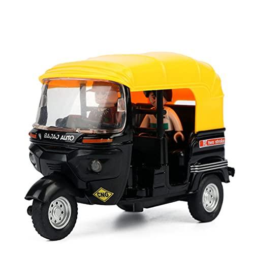 fangzhuo Modellauto Hohe Simulation Indisches Dreirad Spielzeug Indien Tuk Tuk Taxi Zurückziehen Licht Sound Motorrad Spielzeug Für Kinder Kinder Geschenke