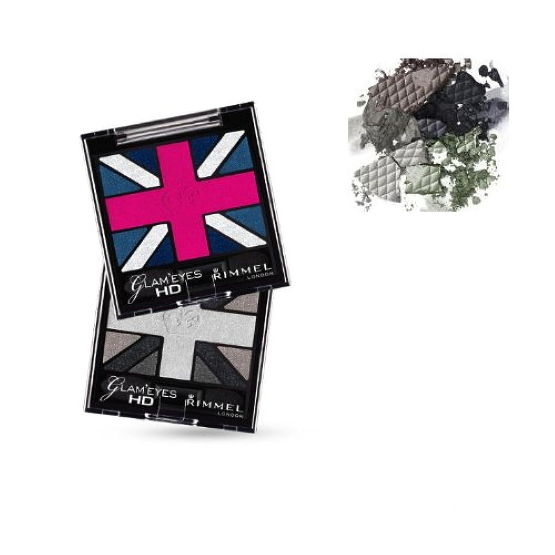 パートナー可決罪人(3 Pack) RIMMEL LONDON Glam'Eyes HD Eyeshadows - Black Cab (並行輸入品)