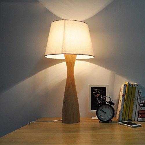TOYM UK Japonais simple moderne mode créative solide bois salon lampe de chevet Nordique chambre lampe de table