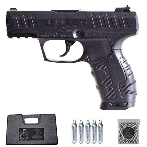 Ecommur. 426 Daisy Powerline | Pistola de perdigones (Bolas BB s de Acero) de Aire comprimido semiautomática Tipo Walther CP99 Cal. 4,5mm + maletín + balines y CO2