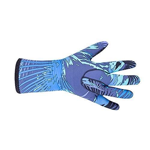 Guantes de esnórquel, guantes de agua, guantes de protección engrosados, neopreno, traje de neopreno cálido de cinco dedos, guantes de invierno para buceo, esnórquel, remo, surf, kayak, piragüismo