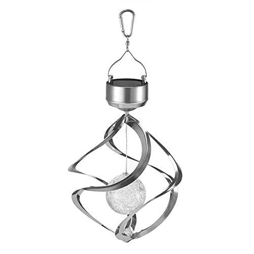 Solar Angetriebener Kristall Ball Lampe LED Farbwechsel Lampe Ornament Wind Funkelnden Kristallkugel Lampe Hängen Campanula Kristallkugel Lampe für Rasen Gärten Yard