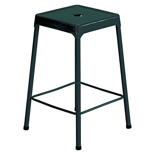Safco Products 6604BL Steel Stool Standard Height, Black
