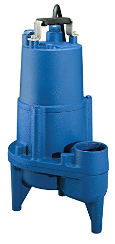 Barnes SEV412 Submersible Cast Iron Sewage Pump – 1/2-HP, 4,260 GPH, 20' Cord, Manual For Sewage Use