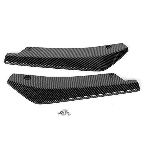 Ladieshow Auto Heckspoiler, Universal Spoiler Carbon Fiber Textur Heckstoßstange Lippendiffusor Splitter Deflektor