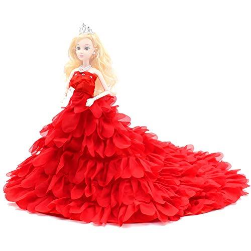 Changlesu Muñecas de hadas estilo pétalo juguetes vestidos de fiesta de boda...