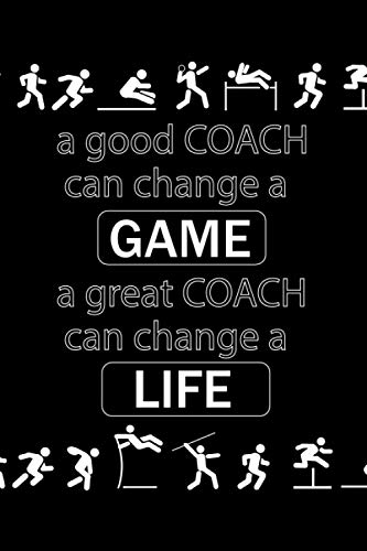 a good COACH can change a GAME: Decathlon / Decathlete Vectors, Dotted & Lined Notebook, Dot Grid and Ruled Journal, Dual Diary for Writing / Note ... Interior, Gifts for Coaches, Men, Women